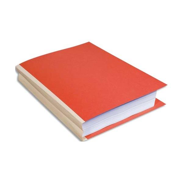 EXACOMPTA Paquet de 25 chemises à soufflet, carte 320g recyclée à 100% coloris orange