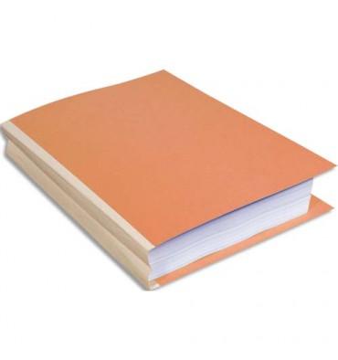 EXACOMPTA Paquet de 25 chemises à dos toilé, carte 320g, dos 3 cm, 24 x 32 cm, coloris bulle