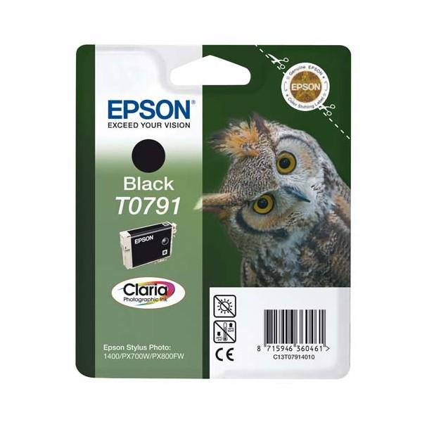 EPSON Cartouche jet d'encre noir T0791