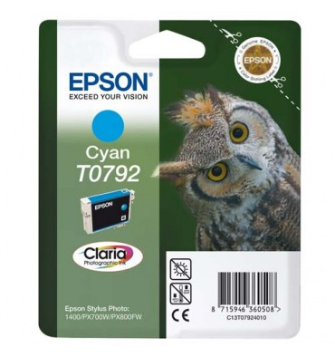 EPSON Cartouche jet d'encre cyan T0792