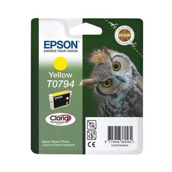 EPSON Cartouche jet d'encre jaune T0794