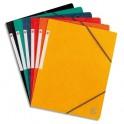 5 ETOILES Chemises simples à élastique en carte lustrée 5/10, 450g, coloris assortis standard