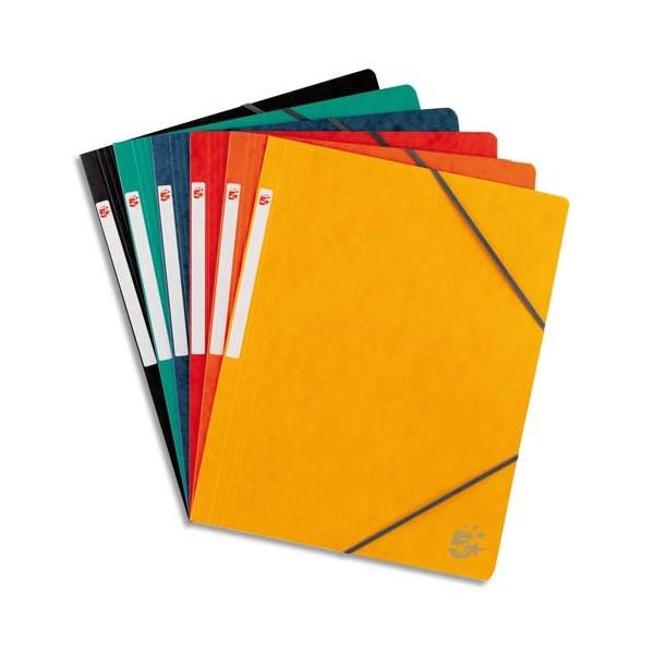 5 ETOILES Chemises simples à élastique en carte lustrée 5/10, 450g, coloris assortis standard (photo)