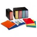 ELBA Ensemble de 5 conteneurs noirs et 25 chemises coloris assortis carton rigide Alpina, dos 1,5 cm