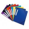 ELBA Chemise 3 rabats et élastique Eurofolio en carte lustrée 5/10e, coloris assortis