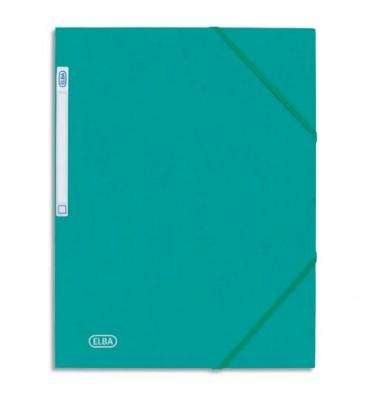 ELBA Chemise 3 rabats et élastique Eurofolio, en carte lustrée 5/10e vert