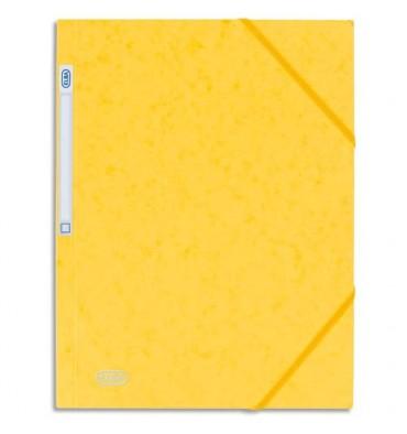 ELBA Chemise 3 rabats et élastique Eurofolio, en carte lustrée 5/10e jaune