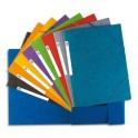 ELBA Chemise à 3 rabats et élastiques en carte lustrée TOP FILE, format A4, 13 coloris assortis