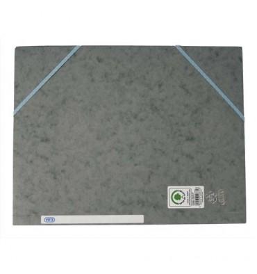 ELBA Chemise à 3 rabats et élastiques en carte lustrée TOP FILE, format A4, coloris gris