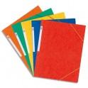 ELBA Chemise à 3 rabats et élastiques en carte lustrée TOP FILE, format A5, coloris assortis