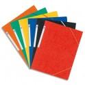 ELBA Chemise à 3 rabats et élastiques en carte lustrée TOP FILE, format A3, coloris assortis