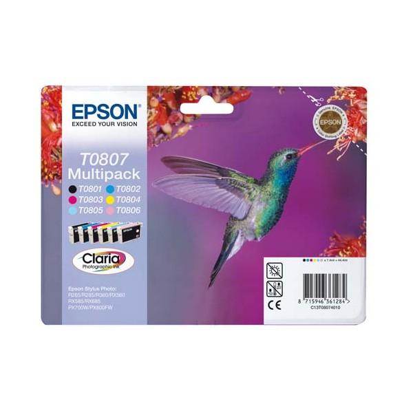 EPSON Multipack 6 cartouches et d'encre T0807