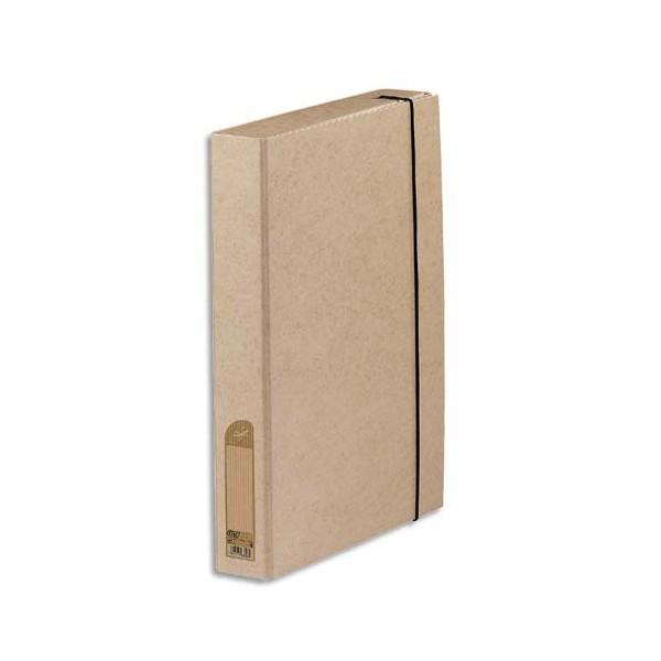 ELBA Boîte de classement à élastique Touareg dos 3,5 cm coloris naturel