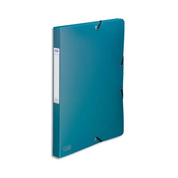 ELBA Boîte de classement Memphis 3 rabats et élastique, dos formé 2,5 cm, polypropylène 7/10e vert