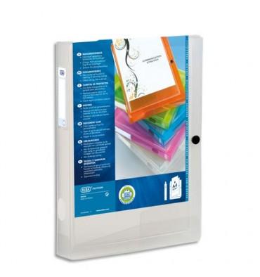 ELBA Boîte de classement transparence personnalisable POLYVISION 24 x 32 dos 4 cm incolore