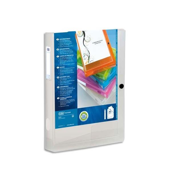 ELBA Boîte de classement transparence personnalisable POLYVISION 24 x 32 cm, dos 4 cm, coloris incolore