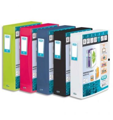 ELBA Boîtes de classement POLYVISION en polypropylène, format 24 x 32 cm, dos de 60 mm, coloris opaque assortis