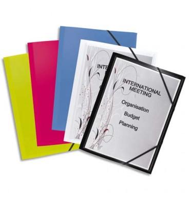 ELBA Chemise 3 rabats et élastique personnalisable POLYVISION, coloris assortis opaque