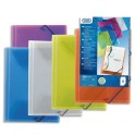 ELBA Chemise 3 rabats et élastique personnalisable POLYVISION, coloris assortis translucides