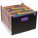 VIQUEL Trieur Seatcase Rainbow Class 24 compartiments, en polypropylène 7/10e, 2 poignées, noir intérieur multicolore