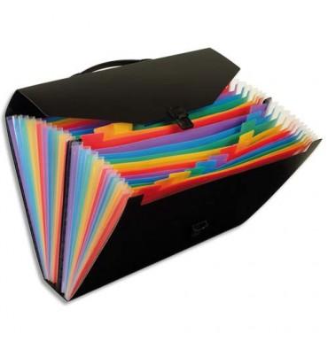 VIQUEL Valise trieur Rainbow 24 compartiments, polypropylène 10/10e, noir intérieur multicolore