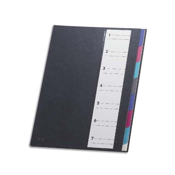 MON DOSSIER Trieur 7 compartiments noir, touches neutres multicolores