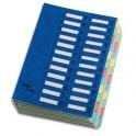 EMEY Trieur EMEY JUNIOR en carte avec système clip, 24 compartiments. Coloris bleu