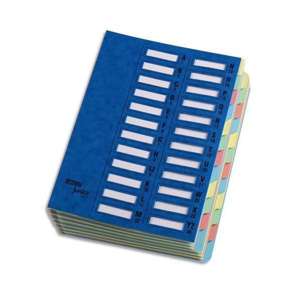 EMEY Trieur EMEY JUNIOR en carte avec système clip, 24 compartiments, coloris bleu