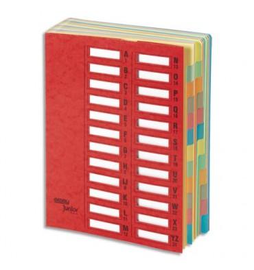 EMEY Trieur EMEY JUNIOR en carte avec système clip, 24 compartiments. Coloris rouge