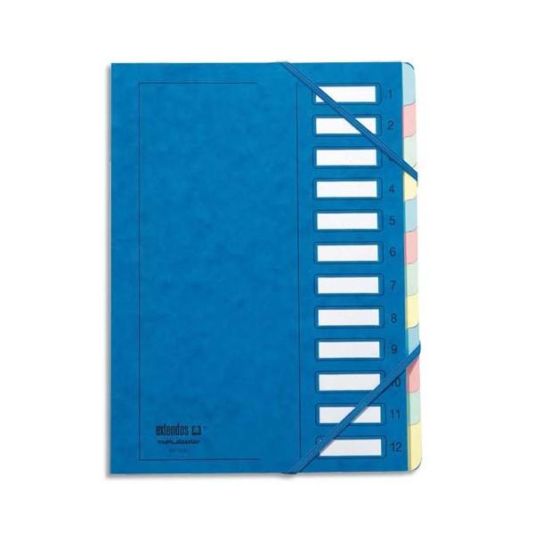 EMEY Trieur EMEY JUNIOR en carte avec système clip, 12 compartiments, coloris bleu