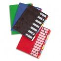 ELBA Trieur 7 compartiments coloris assortis, couverture en carte lustrée 5/10ème bicolore