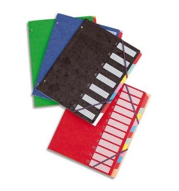 ELBA Trieurs 7 compartiments coloris assortis, couverture en carte lustrée 5/10ème bicolore
