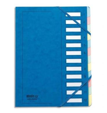MON DOSSIER BY EXTENDOS Trieur en carte forte vernie 6 compartiments bleu