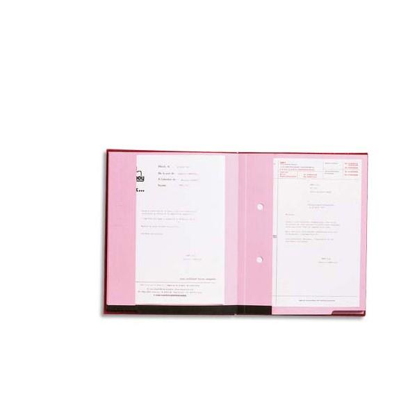 EMEY Parapheur Double Clip 20 compartiments noir, couverture plastifiée, double clip de maintien (photo)