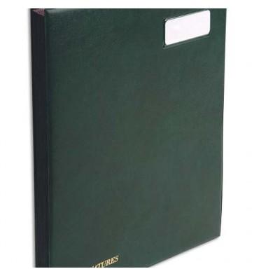 EXACOMPTA Parapheur L'expansé 24 compartiments vert, couverture en PVC
