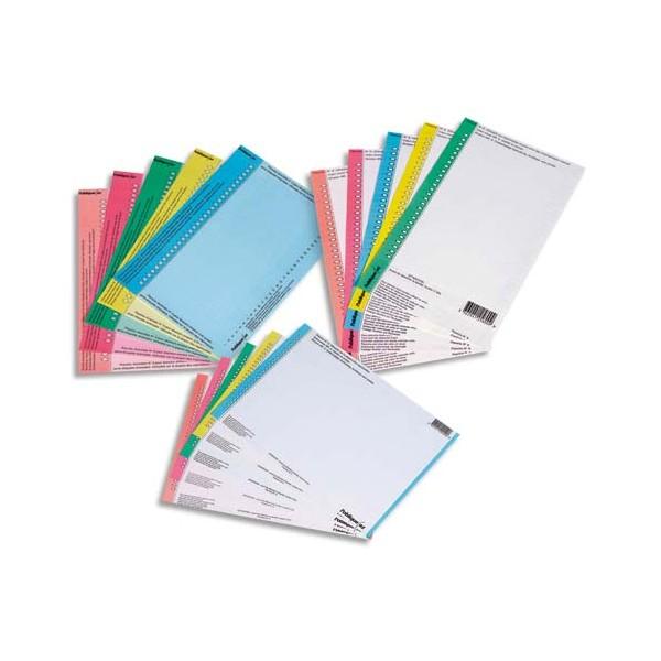 L'OBLIQUE AZ BY ELBA Sachet de 10 planches d'étiquettes N°8 pour dossiers armoire bleu