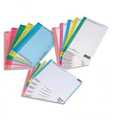 L'OBLIQUE AZ BY ELBA Sachet de 10 planches d'étiquettes pour dossiers tiroir N°0 bleu