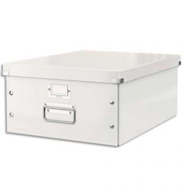 LEITZ Boîte CLICK & STORE L-Box. Format A3 - Coloris blanc