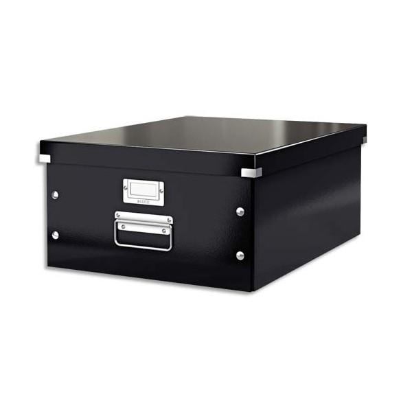 LEITZ Boîte CLICK&STORE L-Box. Format A3 - Dimensions : L36,9xH20xP48,2cm. Coloris Noir