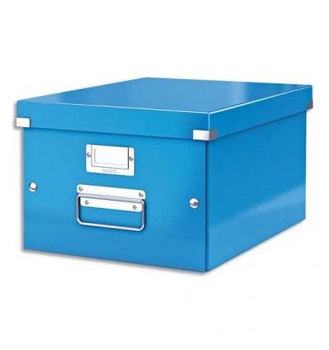 LEITZ Boîte CLICK & STORE M-Box. Format A4 - Coloris bleu gamme WOW