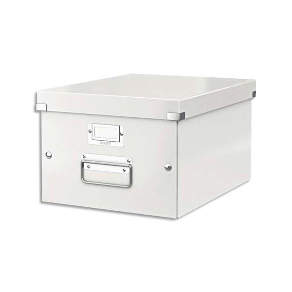 LEITZ Boîte CLICK&STORE M-Box. Format A4 - Dimensions : L281xH200xP369mm. Coloris Blanc