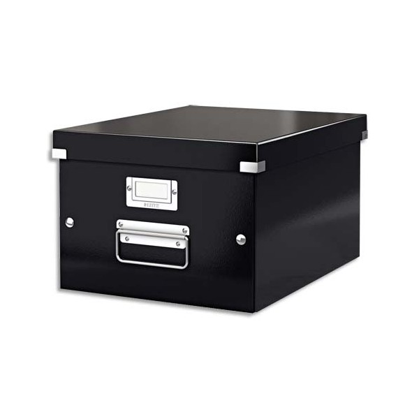 LEITZ Boîte CLICK&STORE M-Box. Format A4 - Dimensions : L281xH200xP369mm. Coloris Noir