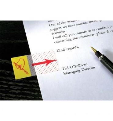 POST-IT Carte de 50 marque-pages index 2,5 cm motif point signature