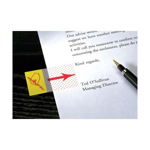 POST-IT Carte de 50 marque-pages index 2,5 x 4,4 cm motif point signature