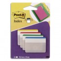 POST-IT Blister de 24 index strong large coloris assortis 5 x 3,8 cm