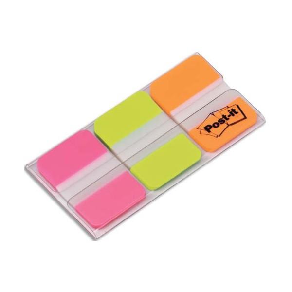 POST-IT Carte de 3 couleurs d'Index Strong 2,5 x 3,8 cm couleur assortis vifs