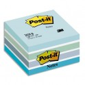 POST-IT Cube Light Relax 7,6 x 7,6 cm - 450 feuilles Pastel bleu