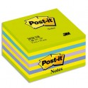 POST-IT Bloc cube NEON 7,6 x 7,6 cm 450 feuilles coloris assortis Reves