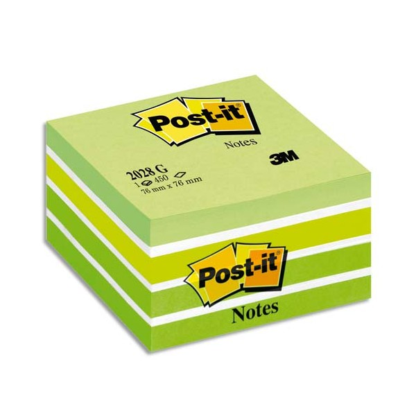 POST-IT Bloc cube aquarelle 7,6 x 7,6 cm 450 feuilles coloris assortis reves