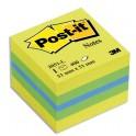POST-IT Mini cube Plaisir classique 5,1 x 5,1 cm - 400 feuilles - Rêve Néon